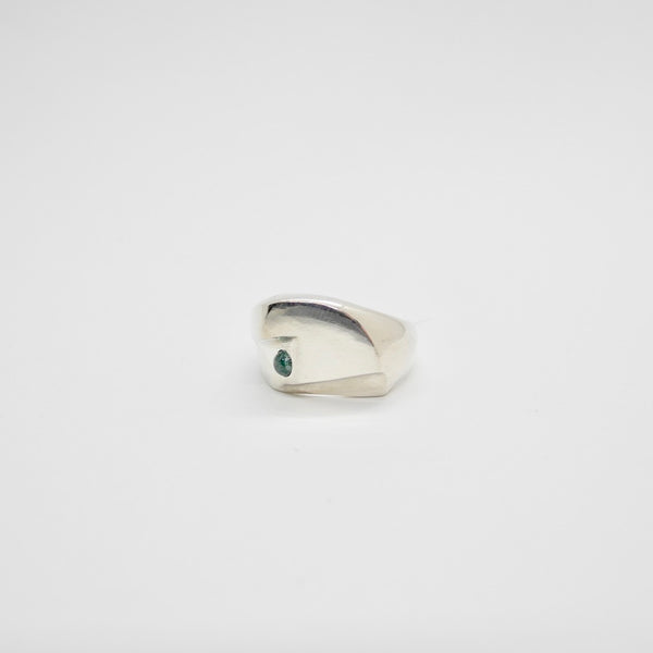 Modernist Ring with Stone