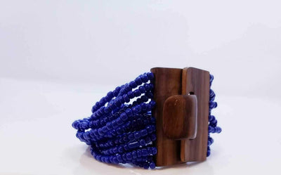 Blue African Beaded Bracelet | Ollister Urban