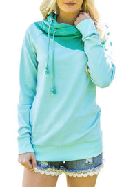 Cute Green Duotone Chic Hooded Sweatshirt | Ollister Urban