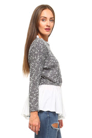 Women's Double Layer Knitted Sweater | Ollister Urban