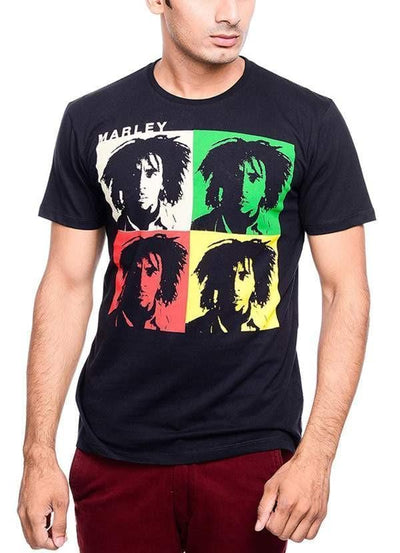 Bob Marley Amplified Depth Black Half Sleeve Men | Ollister Urban