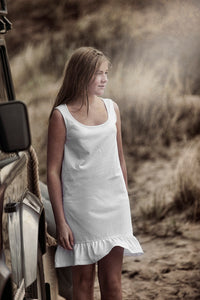NIGHTGOWN FRILL WHITE
