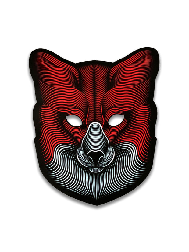 The official Fox Sound Reactive LED Outline Montréal Mask - Principal Picture
