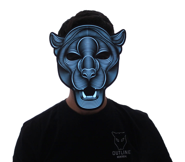 The official Jaguar 2.0 Sound Reactive LED Outline Montréal Mask - Second Picture