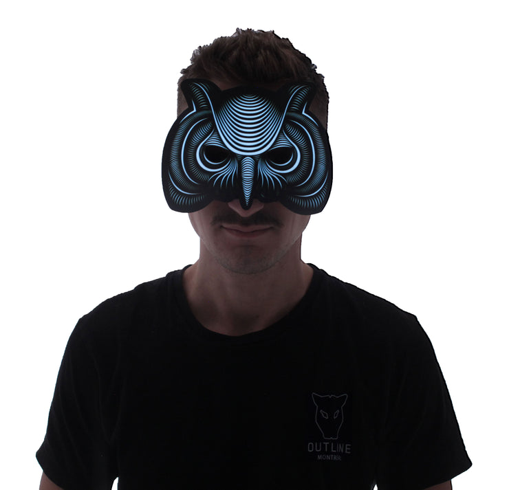 The official Owl Sound Reactive LED Outline Montréal Half-Mask - Second Picture