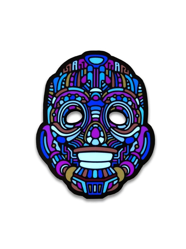 The official Y, Robot Sound Reactive LED Outline Montréal Mask - Principal Picture