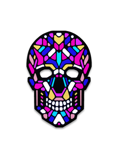 The official Sugar Skull Sound Reactive LED Outline Montréal Mask - Principal Picture