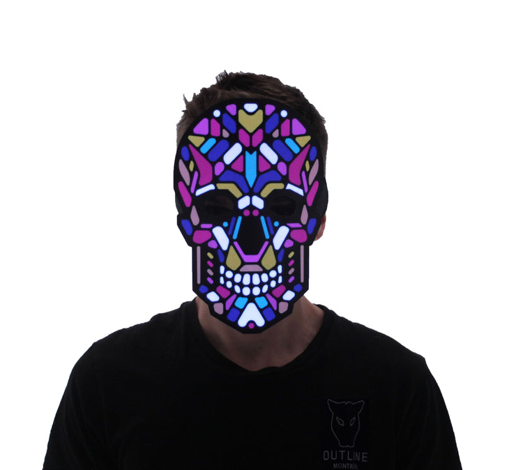 The official Sugar Skull Sound Reactive LED Outline Montréal Mask - Second Picture