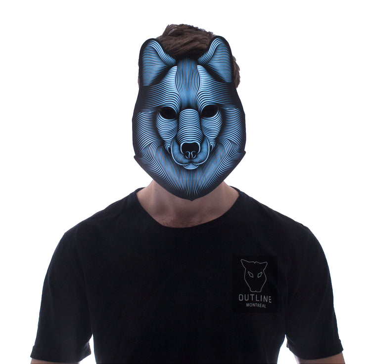 The official Wolf Sound Reactive LED Outline Montréal Mask - Second Picture