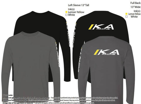 Black/Grey Classic Long Sleeve Tee
