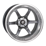 XT-006R Gun Metal w/ Machined Lip Wheel 18x11 +8mm 5x114.3