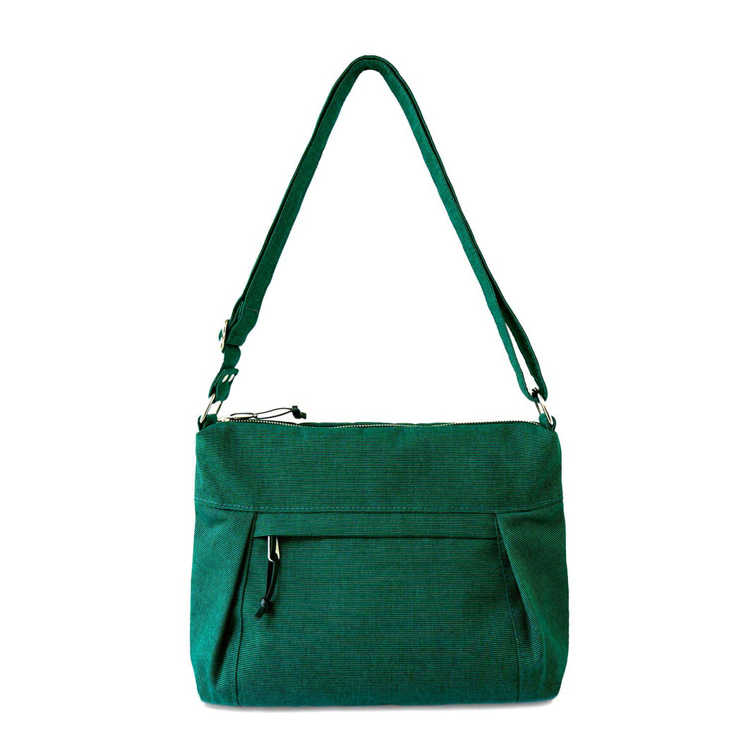 CARRYALL NO.2 - EMERALD GREEN - cross body purse - STANFIELD