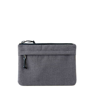 waterproof table case with outside pocket in charcoal gray