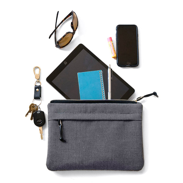 ORGANIZER CLUTCH - CHARCOAL GRAY