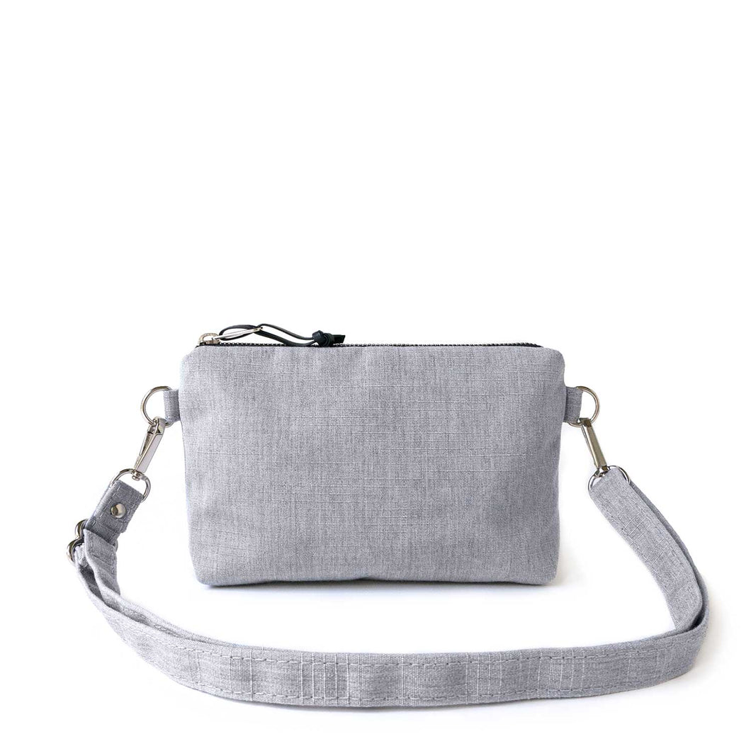 MINI CROSSBODY - HEATHER GRAY - cross body bag - STANFIELD