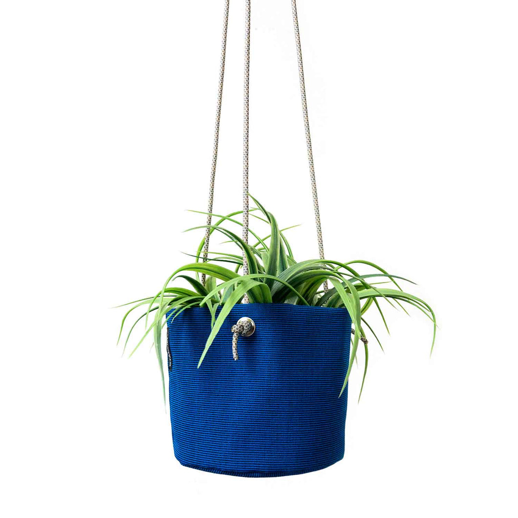 HANGING PLANTER - ROYAL BLUE - home decor - STANFIELD