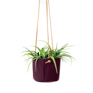 HANGING PLANTER - PLUM