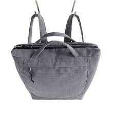 Load image into Gallery viewer, ZIP PACK - CHARCOAL GRAY - convertible backpack - STANFIELD