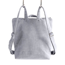 Load image into Gallery viewer, ZIP PACK - HEATHER GRAY - convertible backpack - STANFIELD