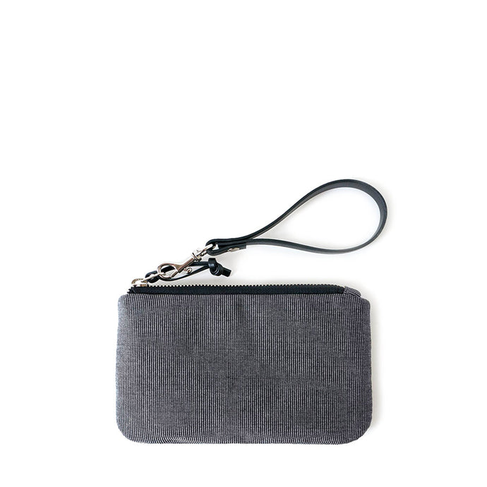 TINY CLUTCH - CHARCOAL GRAY - zip pouch - STANFIELD