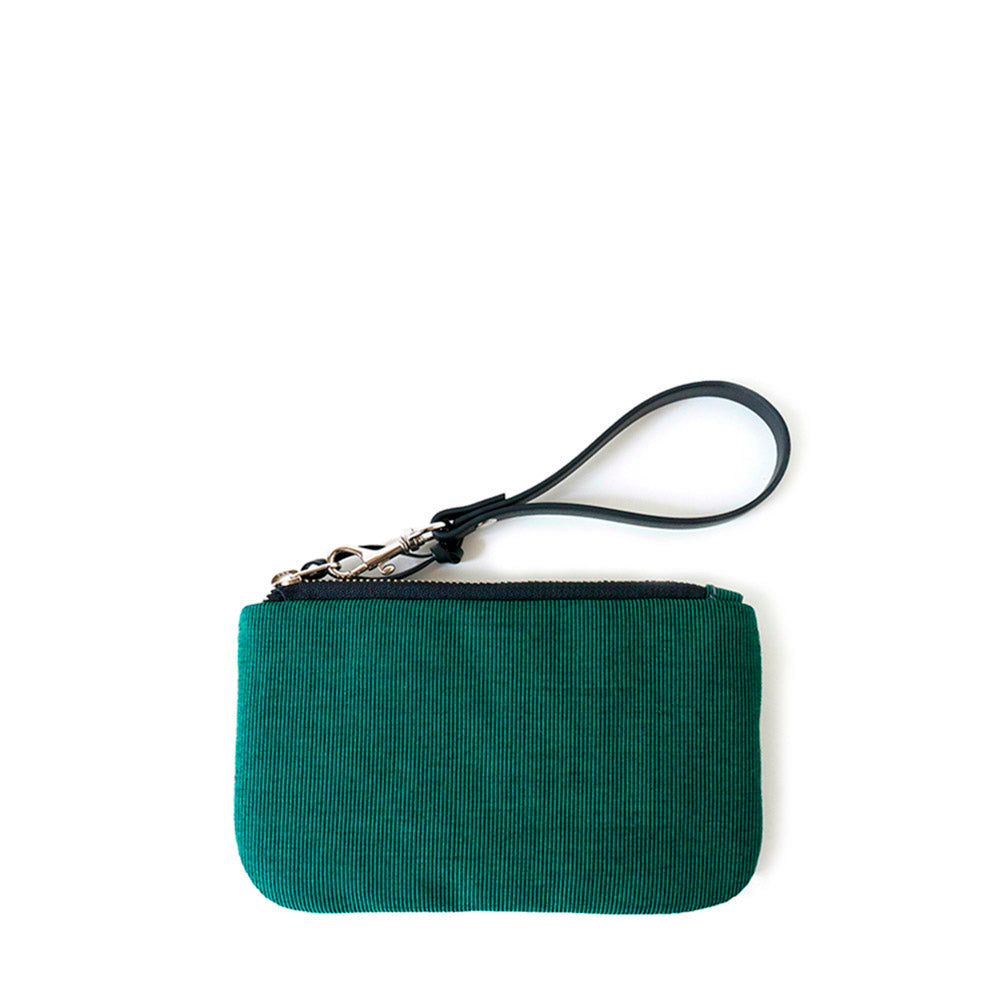 TINY CLUTCH - EMERALD GREEN - zip pouch - STANFIELD