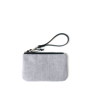 TINY CLUTCH - HEATHER GRAY
