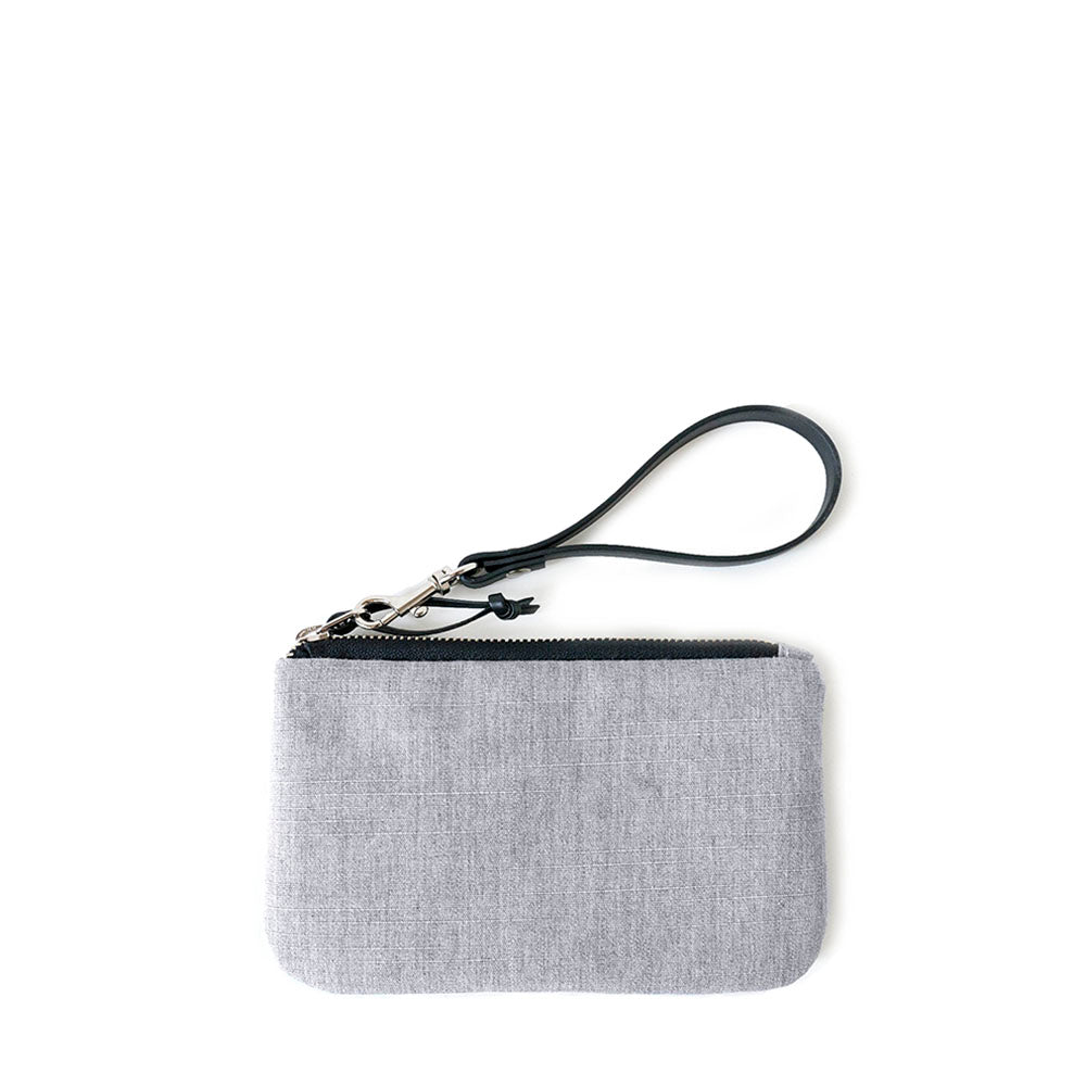 TINY CLUTCH - HEATHER GRAY - zip pouch - STANFIELD