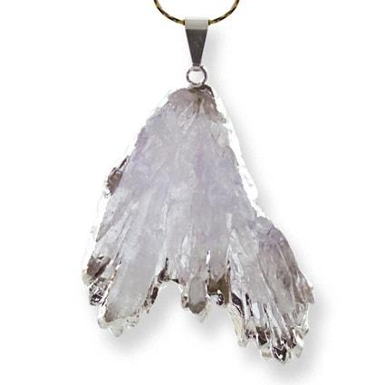 Lilac Angel Wing Pendant