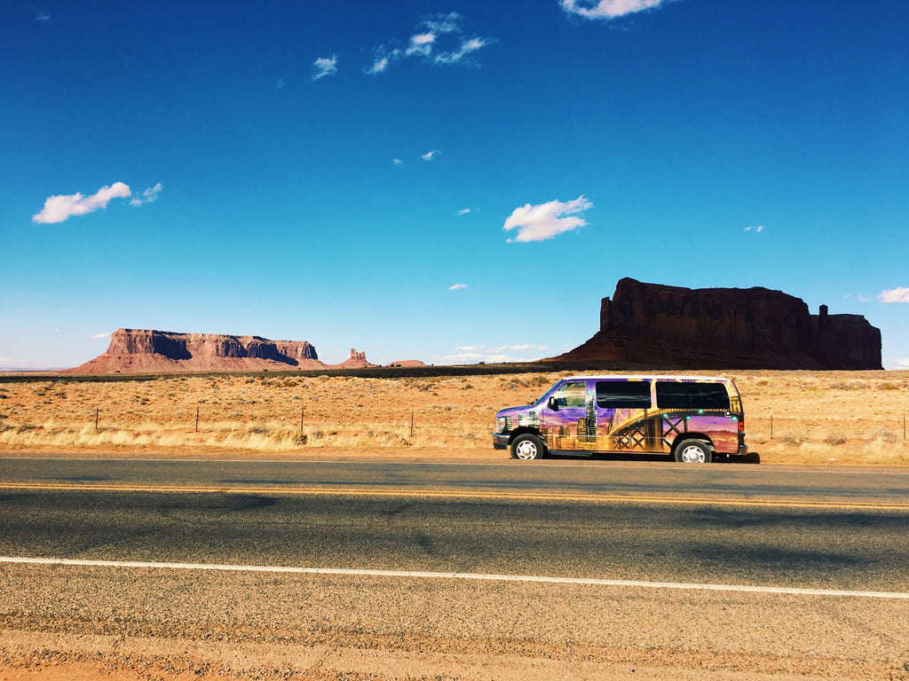 Escape Campervan at Monumemnt Valley, USA