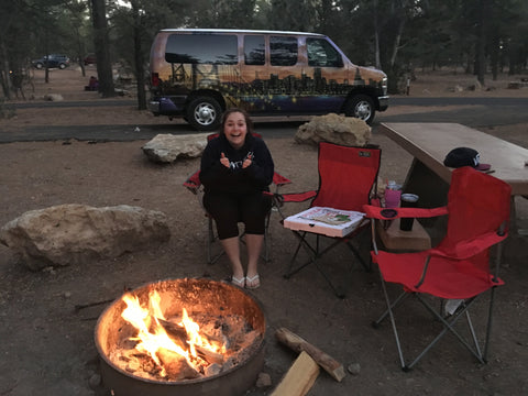 Sat around campfire at Mather Campground, Grand Canyon National Park