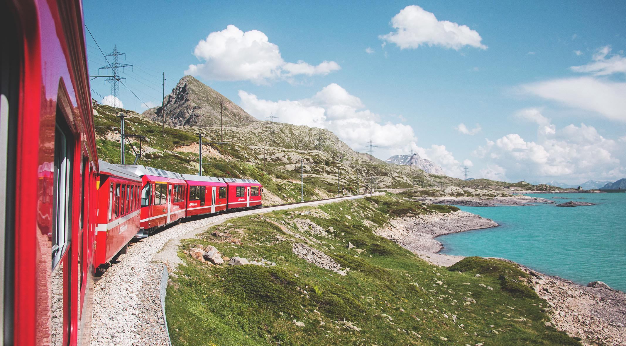 The Bernina Express, Swiss Alps. Photo by Sara Groblechner