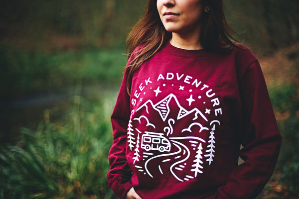 Campervan Clothing | Red Sweatshirt