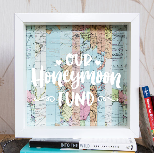 Our Honeymoon Fund Script Style Money Box