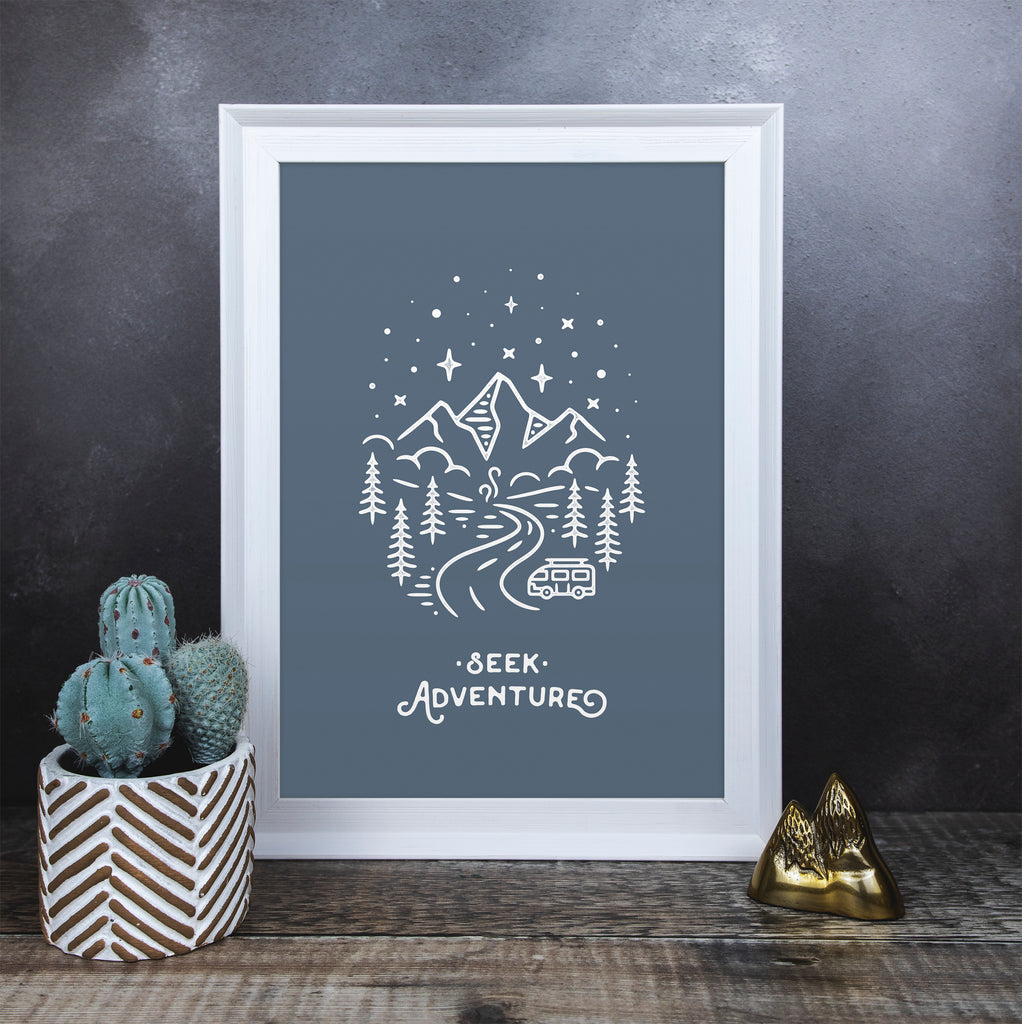 Seek Adventure Print - Blue Edition