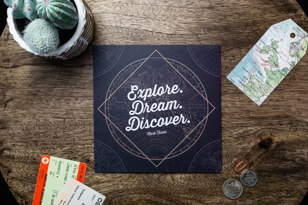 Explore Dream Discover Card