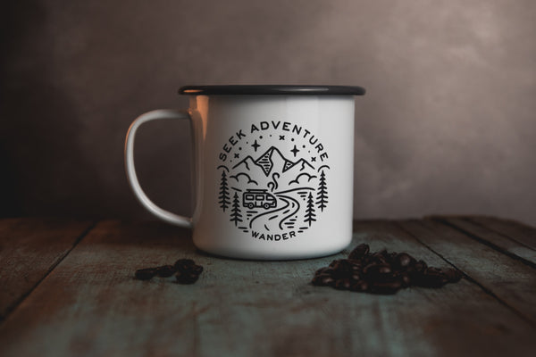 Adventure Mug - Seek Adventure - Campervan Mug
