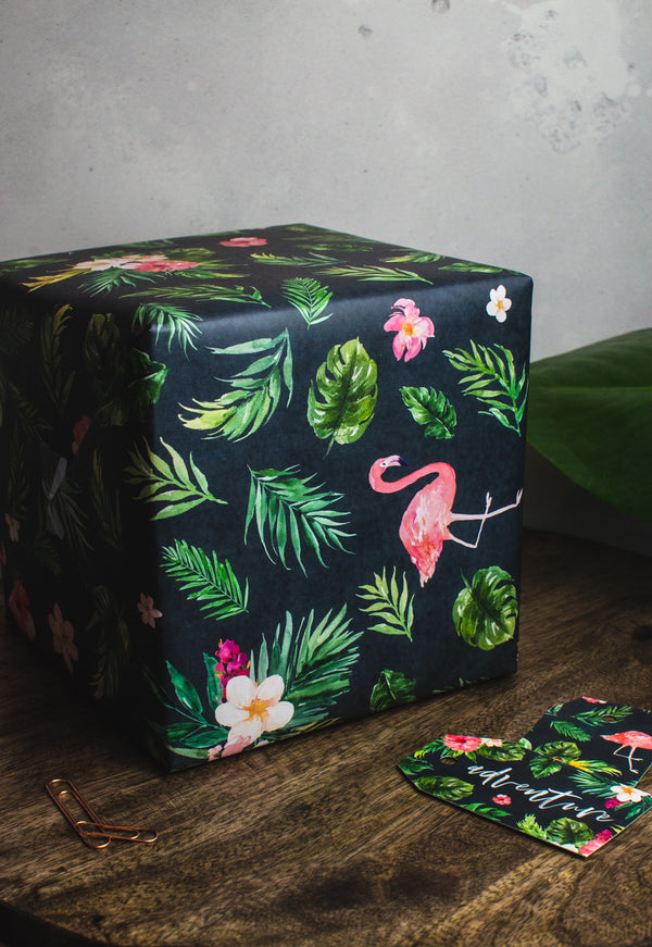 Tropical Gift Wrap Set