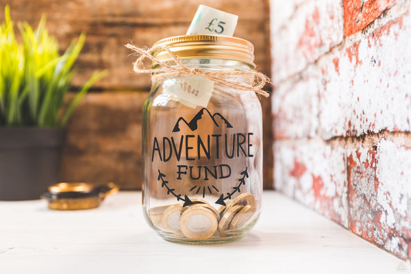 Adventure Fund Black Jar - Small-Wander Collective