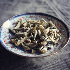 Dish of Yunnan Silver bud tea