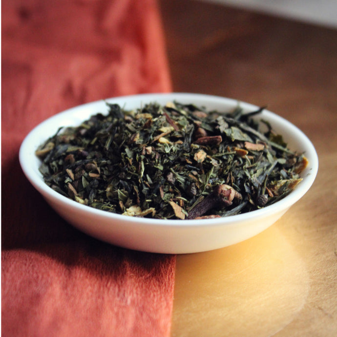 Green chai loose leaf tea