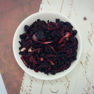 Dish of Jamaica rum loose leaf tea