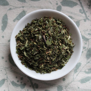 Dish of morroccan mint tea