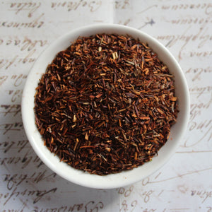 organic rooibos tea view from above