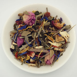 Dish of Reiki loose leaf tea