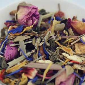 Close up view of Reiki loose leaf tea
