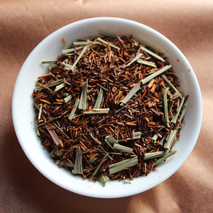 Lemon rooibos from above