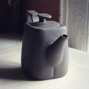 Square Yixing teapot front