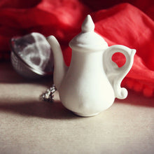 Load image into Gallery viewer, White teapot tea infuser