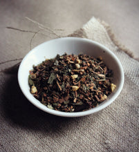 Load image into Gallery viewer, view of dish of yoga tea herbal blend