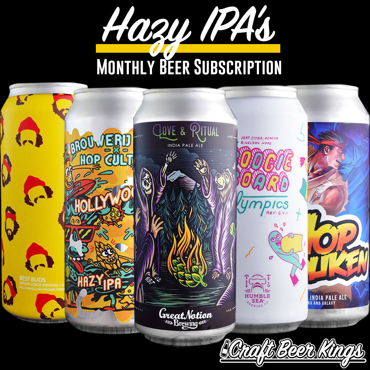 Hazy Subscription Box Craft Beer Kings